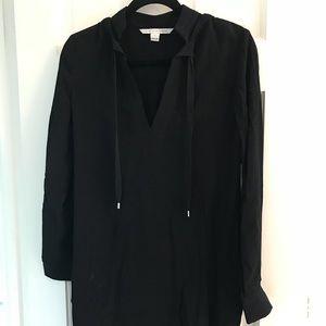 DVF Karlian black dress size 2